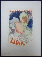 Les Maitres De L'affiche - N°25 - Très Belle Planche De Jules Chéret - Alcazar D'été - Lidia - Affiches