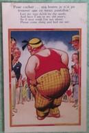 """Carte Humouristique N° 3718 Imprimé En Angleterre : """"Pour Cacher ... Ma Honte, Je N'ai Pu Trouver Que Ce Vieux Pantalon"""" - Humour"""