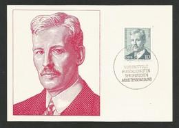 DDR 1974  Mi.Nr. 1915 , Rudolf Breitenscheid - Persönlichkeiten Der Deutschen Arbeiterbewegung - Maximum Karte - 9.-7.74 - DDR