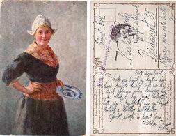 Karl HAVER - Femme Et Assiette - Cachet Militaire - Prisonnier De Guerre ?  (110600) - Peintures & Tableaux