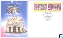 Sri Lanka Stamps 2018, Christmas, FDC - Sri Lanka (Ceylon) (1948-...)