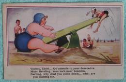 """Carte Humouristique : """"Voyons, Chéri... Qu'attends-tu Pour Descendre"""" - Humour"""