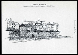 """GRAVURE """"Golfe Du Morbihan - Remparts De Vannes"""" - Documenten Van De Post"""