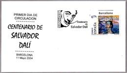 100 Años De SALVADOR DALI - 100 Years. SPD/FDC Barcelona 2004 - Arte