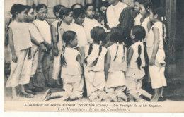 CHINE )) MAISON DE JESUS ENFANT, Les Protégés De La Ste Enfance, Les Moyennes, Lecons De Cathéchisme - Chine