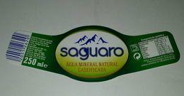 Etiquette L'eau Minerale Saguaro. Portugal - Etiquetas