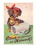 HUNDE - DACKEL / Teckel, Bassotto, Humor - Hunde