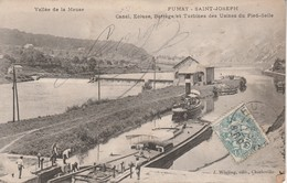 08 - FUMAY - Saint Joseph - Canal, Ecluse, Barrage Et Turbines Des Usines Du Pied Selle - Fumay