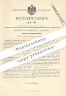 Original Patent - Sylvester Eggenberger , Budapest , 1890 , Feuerung Mit Rauchverbrennung   Kesselfeuerung   Dampfkessel - Documents Historiques