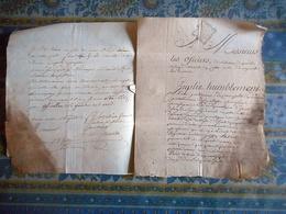 LETTRE MANUSCRITE 1767 MILITARIA Concerne DE CARNAZET A SAINT LUBIN - Manoscritti