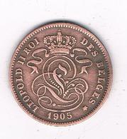 2 CENTIMES 1905 FR BELGIE /8636/ - 1865-1909: Leopold II