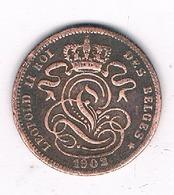 1  CENTIM 1902 FR BELGIE /8638/ - 1865-1909: Leopold II
