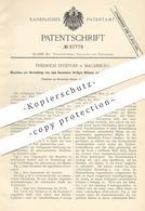 Original Patent - Friedrich Stöffler , Magdeburg 1890 , Verpacken Fertiger Blöcke Aus Cichorien , Kaffee , Mehl   Papier - Documents Historiques