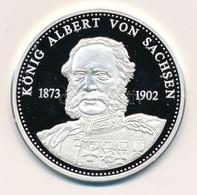 Németország 1992. 'Szász Albert - Német Királyok' Jelzett Ag Emlékérem, Tanúsítvánnyal (20g/0.999/40mm) T:PP Germany 199 - Monnaies & Billets