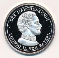 Németország 1995. 'II. Lajos Születésének 150. évfordulója - Német Királyok' Jelzett Ag Emlékérem, Tanúsítvánnyal (8,5g/ - Monnaies & Billets