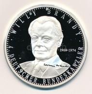Németország 1997. 'Willy Brandt - A Német Szövetségi Köztársaság Kancellárjai' Jelzett Ag Emlékérem, Tanúsítvánnyal (20g - Monnaies & Billets
