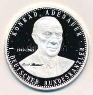 Németország 1997. 'Konrad Adenauer - A Német Szövetségi Köztársaság Kancellárjai' Jelzett Ag Emlékérem, Tanúsítvánnyal ( - Monnaies & Billets