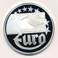 Németország 1997. 'Hollandia Gulden - Az Első Euro Veretek' Jelzett Ag Emlékérem, Tanúsítvánnyal (20g/0.999/40mm) T:PP G - Monnaies & Billets