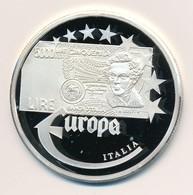 Németország 1997. 'Olaszország Líra - Az Első Euro Veretek' Jelzett Ag Emlékérem, Tanúsítvánnyal (20g/0.999/40mm) T:PP G - Monnaies & Billets