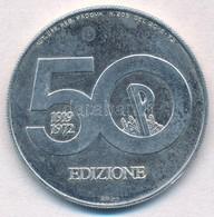 Olaszország 1972. 'Padova 1972' 2000L Névértékű Ag Emlékérem T:1- (eredetileg PP) Italy 1972. 'Padua 1972' 2000 Lire? Ag - Monnaies & Billets