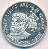 Olaszország 1975. 'Bizet - Carmen Opera Centenáriuma' 5000L Névértékű Ag Emlékérem Műanyag Tokban T:1- (eredetileg PP) I - Monnaies & Billets