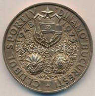 Románia 1973. 'Dinamo Bukarest Sport Klub 1948-1973 / 25. Évforduló' Br Emlékérem (60mm) T:2 Romania 1973. 'Dinamo Bucha - Monnaies & Billets
