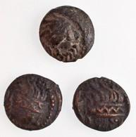 Kelták Kr. E. ~II. Század Br érme, Kapos-völgyi Típus (3x) (2,2g/2,15g/2,43g) T:2-,3 Celtic Tribes ~2nd Century BC Br Co - Monnaies & Billets