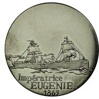 France, Médaille, Les Grands Transatlantiques, Impératrice Eugénie, C. - France