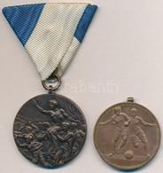 1928. 'Magyar Ifjúsági Labdarúgó Liga - 1927-1928. I.' Br Díjérem Szalag Nélkül + Nagy-Britannia 1948. 'XIV. Olimpiai Já - Monnaies & Billets