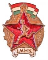 ~1950. 'LMHK' Festett Fém Jelvény (23x29mm) T:2 - Monnaies & Billets