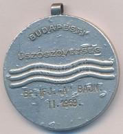 1969. 'Budapest Úszószövetség - BP. Ifj. A Bajn. II. 1969' Ezüstözött Fém Díjérem Füllel. Szign.: Kovács (40mm) T:2 - Monnaies & Billets