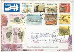 ZIMBABWE CCSELLOS FAUNA MINERIA MINNING CAMION TRUCK ARTESANIA RHINOCEROS AVION - Zimbabwe (1980-...)