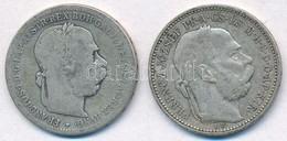 Vegyes: 1893KB 1K Ag + Ausztria 1893. 1K Ag 'Ferenc József' T:2-,3 - Monnaies & Billets