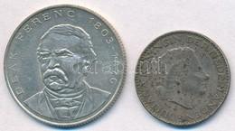 Vegyes: 1994. 200Ft Ag 'Deák' + Hollandia 1956. 1G Ag 'Julianna' T:2 Patina - Monnaies & Billets