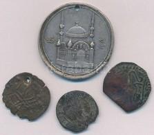 4db-os Vegyes Emlékérem és érme Tétel, Közte Egyiptomi Emlékérem T:2-,3 - Monnaies & Billets