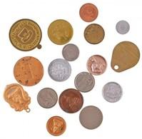 Vegyes 17db-os Emlékérem, Medál és Telefonbárca Tétel T:2,2- - Monnaies & Billets