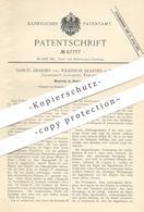 Original Patent - Samuel Dearden , Wilkinson Dearden , Nelson , Lancaster , England , 1890 , Steinsäge   Stein - Säge - Documents Historiques