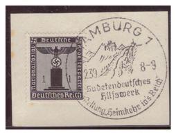 Dt-Reich (007274) Sonderstempel Auf Briefstück, Hamburg, Sudetendeutsches Hilfswerk, Ausstellung Heimkehr Ins Reich, Ges - Deutschland