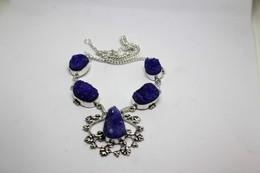 Collana Di Agata Druzy  Blu  Misura 46 Cm - Necklaces/Chains