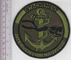 France Marine 6e Regimante Detachment Intervention Nautique Plongeur Para French Navy Combat Diver - Patches