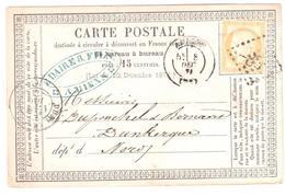 Entier Carte Postale Officielle Type 10 Storch Ob GC 85 Amiens 15c Cérés Yv 55 E. DAIRE Et Fils - Entiers Postaux