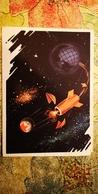 MURZILKA RIDING SPUTNIK -  Space  - First Satellite -  PROPAGANDA -  OLD USSR PC 1964 - Espace