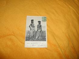 CARTE POSTALE ANCIENNE CIRCULEE DE 1910. / EGYPTE.- SOLDATS BECHERINES. / CACHET + TIMBRE - Egypte