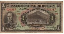 BOLIVIA  1 Boliviano   (L. 1928)    P118a    VF - Bolivia
