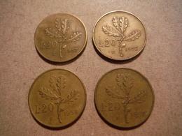 P89     4 X 20 Lires 1957 Et 1958 - 20 Lire