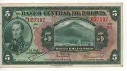 BOLIVIA  5 Boliviano   (L. 1928)    P120  XF - Bolivia
