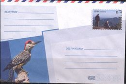 POSTAL STATIONERY, MINT, PREPAID ENVELOPE, FAUNA, BIRDS, WOODPECKERS,  MOUNTAINS - Birds