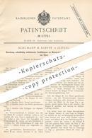 Original Patent - Schumann & Koeppe , Leipzig , 1890 , Ventilklappen Am Wasserstandsanzeiger   Ventil   Dampfkessel !!! - Documents Historiques