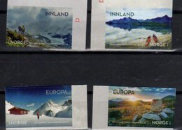 NORWAY, 2018, MNH,NORWEGIAN TREKKING ASSOCIATION, MOUNTAINS, CANOES, LANDSCAPES,4v SELF-ADHESIVE - Stamps