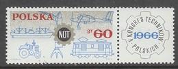 TIMBRE NEUF DE POLOGNE - 5E CONGRES NATIONAL TECHNIQUE N° Y&T 1505 - Usines & Industries